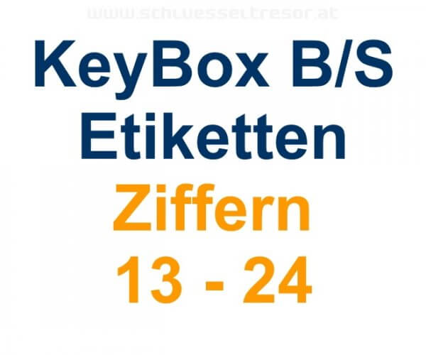 Etiketten Ziffern 13 - 24