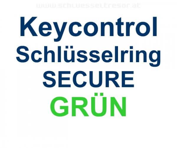Keycontrol Schlüssel-Ring GRÜN SECURE