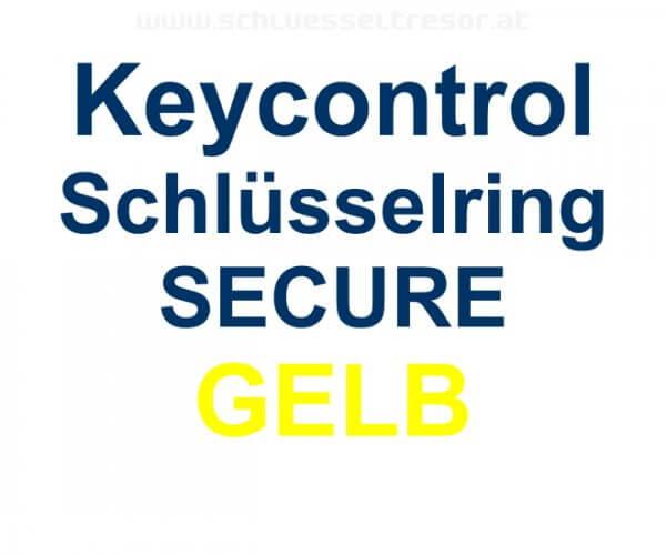 Keycontrol Schlüssel-Ring GELB SECURE