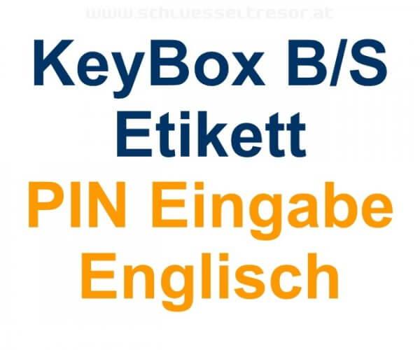 Etikett PIN Eingabe Englisch